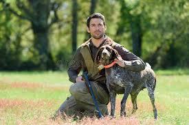 man and gundog